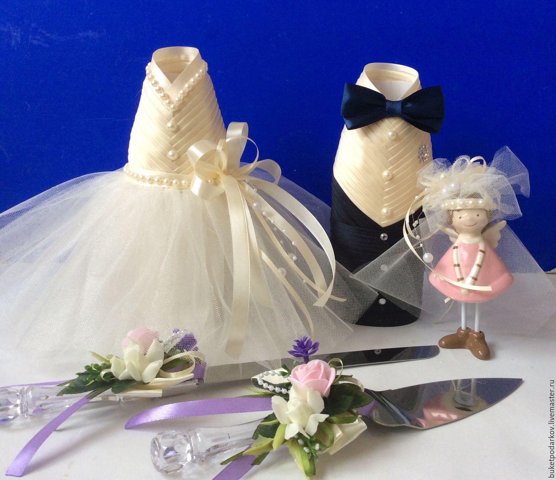 Чехлы на свадебные бутылки