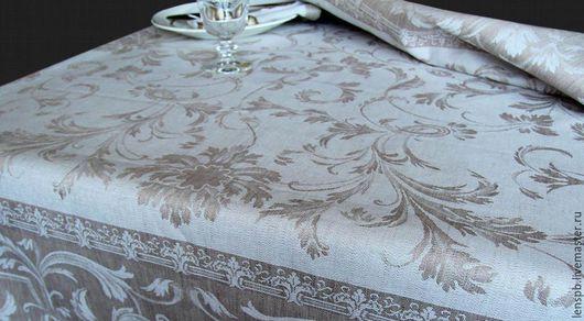 Текстиль, ковры ручной работы. Ярмарка Мастеров - ручная работа. Купить Скатерть льняная. Handmade. Красивая скатерть, льняная скатерть