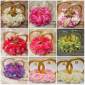 Свадебный салон ручной работы. Ярмарка Мастеров - ручная работа Кольца с цветами на авто. Handmade.