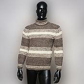 Одежда handmade. Livemaster - original item Men`s sweater made of 100% home-made sheep wool.. Handmade.