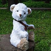 Куклы и игрушки ручной работы. Ярмарка Мастеров - ручная работа Медведь игрушка большая с ревуном Белоснежка. Handmade.