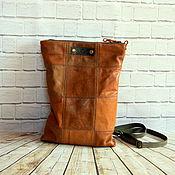Сумки и аксессуары handmade. Livemaster - original item Small leather backpack. Handmade.