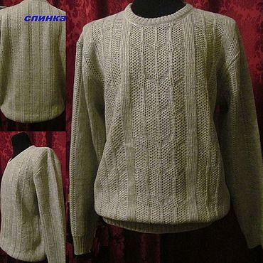 Clothing handmade. Livemaster - original item Flax 70% 30% Kardelen .A real men`s jumper. Handmade.