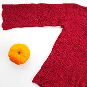 Пуловеры ручной работы. Ярмарка Мастеров - ручная работа Ажурный пуловер винного цвета. Handmade.