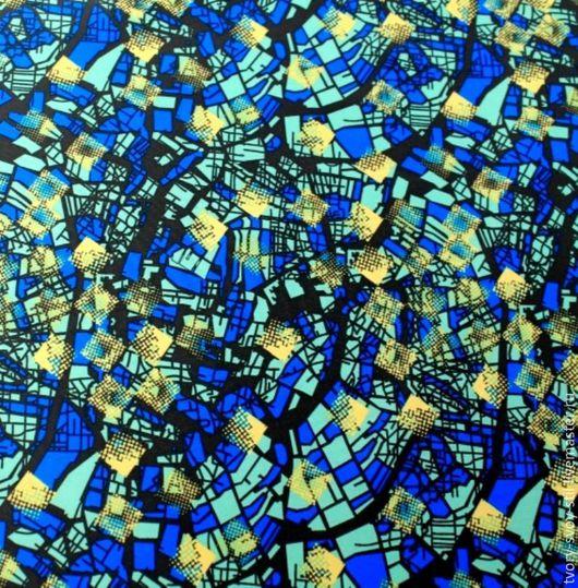 """Шитье ручной работы. Ярмарка Мастеров - ручная работа. Купить Плащевка """"Желто-синий микс"""". Handmade. Синий, ткань для рукоделия"""