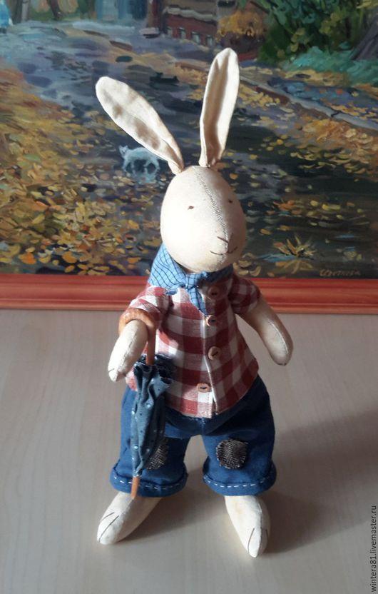 Игрушки животные, ручной работы. Ярмарка Мастеров - ручная работа. Купить Братец Кролик. Handmade. Бежевый, сказки дядюшки римуса
