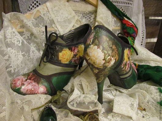 """Обувь ручной работы. Ярмарка Мастеров - ручная работа. Купить Туфли """" Тайны Версаля"""". Handmade. Декупаж, обувь декупаж"""