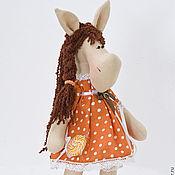 Мягкие игрушки ручной работы. Ярмарка Мастеров - ручная работа Лошадка большая. Интерьерная игрушка тильда текстильная. Handmade.