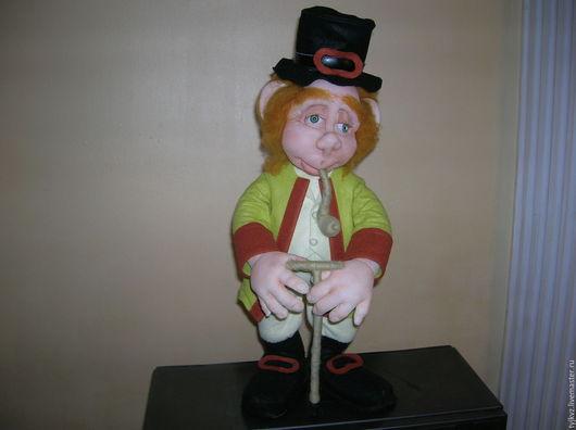 Коллекционные куклы ручной работы. Ярмарка Мастеров - ручная работа. Купить Авторская кукла дядюшка Франц. Единственный экземпляр, смешной человеч. Handmade.
