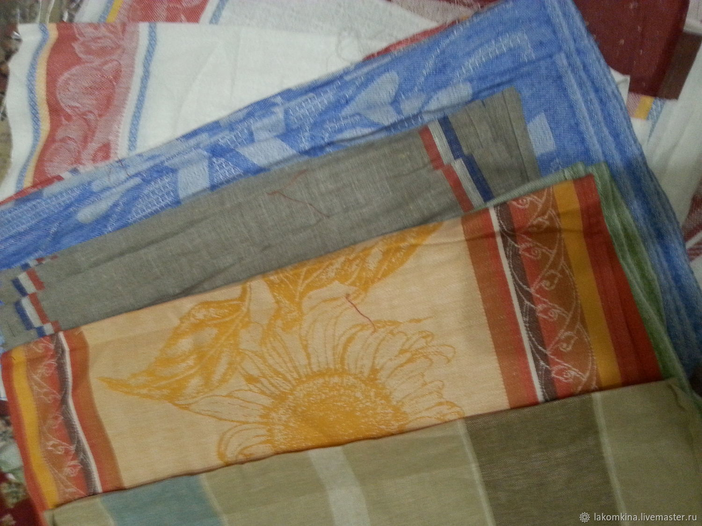 льняное полотенце не подшитое, Полотенца, Кострома,  Фото №1