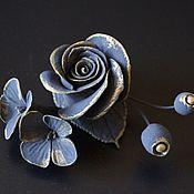 Украшения handmade. Livemaster - original item hairpins. Golden bouquet. Barrette clip.. Handmade.