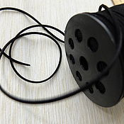 Материалы для творчества ручной работы. Ярмарка Мастеров - ручная работа Замшевый шнур черный. Handmade.