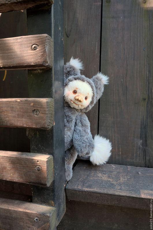 Мишки Тедди ручной работы. Ярмарка Мастеров - ручная работа. Купить Необычный зверь Шуша. Handmade. Серый, добрая игрушка
