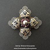 Украшения handmade. Livemaster - original item Brooch Lace cross. Handmade.