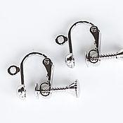 Материалы для творчества handmade. Livemaster - original item 2448_1п_Клипсы to the ears of the silver, 10х13 mm, Clip screw, Base. Handmade.