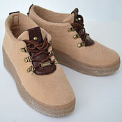 """Обувь ручной работы. Ярмарка Мастеров - ручная работа Ботинки валяные женские """"Old School"""". Handmade."""