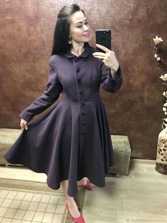 Верхняя одежда ручной работы. Ярмарка Мастеров - ручная работа. Купить  Пальто-платье Рэтро ... 83741709e11