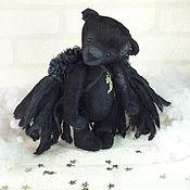 Куклы и игрушки ручной работы. Ярмарка Мастеров - ручная работа Мишка Полуночный Ангел. Handmade.