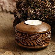 Для дома и интерьера handmade. Livemaster - original item Candlestick Resile on wood. Handmade.