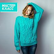 Материалы для творчества handmade. Livemaster - original item Master class: Sweater and braids.. Handmade.