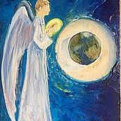Картины и панно ручной работы. Ярмарка Мастеров - ручная работа Ангел. защитник. Handmade.