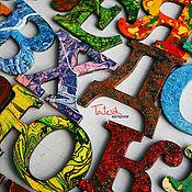 """Куклы и игрушки ручной работы. Ярмарка Мастеров - ручная работа Алфавит. буквы - магниты """"Волшебные буквы"""". Развивающие игры. Handmade."""