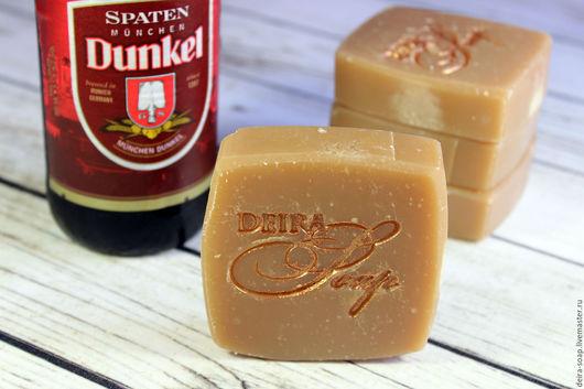 Пивное натуральное мыло с нуля на темном пиве Spaten подарок мужчине