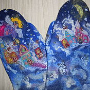 "Аксессуары ручной работы. Ярмарка Мастеров - ручная работа Валяные варежки ""Самый добрый ангел"". Handmade."
