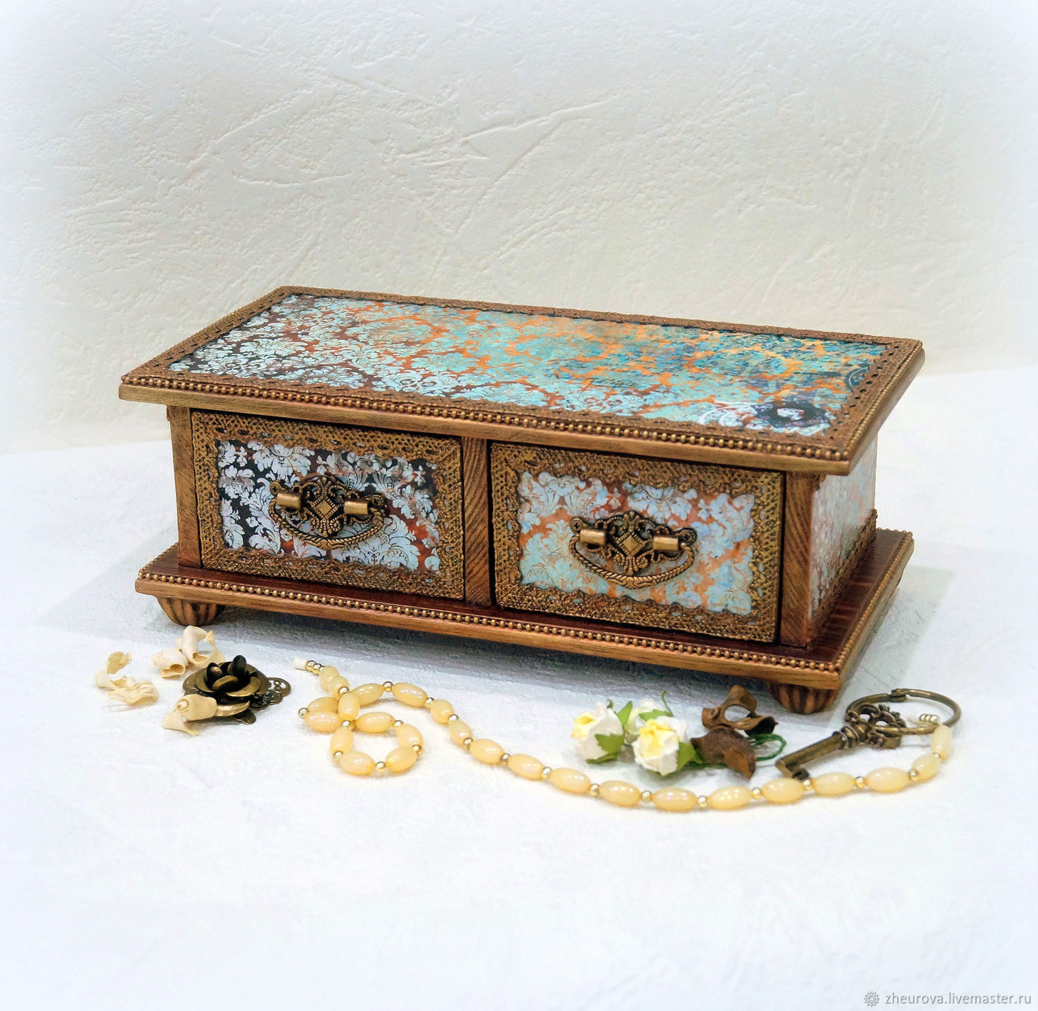 Chest of drawers jewelry box 'Fashion vintage', Mini Dressers, Moscow,  Фото №1