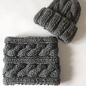 Работы для детей, ручной работы. Ярмарка Мастеров - ручная работа Комплект шапка + шарф-снуд. Handmade.