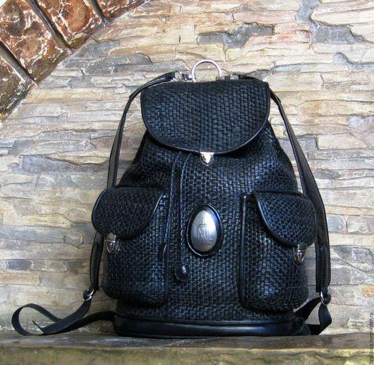 Рюкзаки ручной работы. Ярмарка Мастеров - ручная работа. Купить рюкзак кожаный плетёный. Handmade. Кожаный рюкзак, плетеная кожа