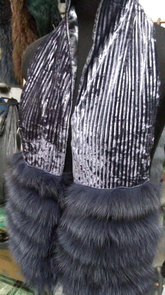 Шарфы и шарфики ручной работы. Ярмарка Мастеров - ручная работа. Купить Шарф из меха песца и бархата. Handmade.