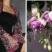 Одежда ручной работы. Ярмарка Мастеров - ручная работа Болеро «Цветущая фуксия». Handmade.