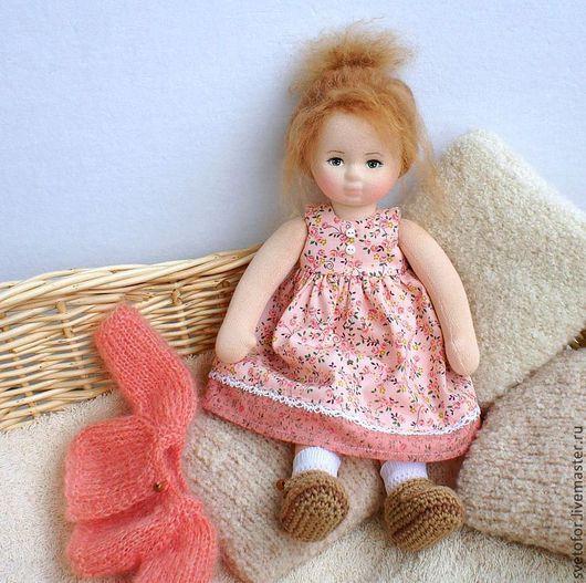 Коллекционные куклы ручной работы. Ярмарка Мастеров - ручная работа. Купить Ладушка, 30 см. Handmade. Коралловый, интерьерная кукла