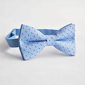 Аксессуары handmade. Livemaster - original item Tie Noble / blue bow tie, blue wedding. Handmade.