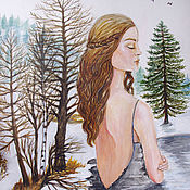 Картины и панно handmade. Livemaster - original item Pictures: Nature is the world of our soul.. watercolor, acrylic. Handmade.