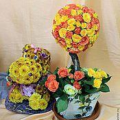 Цветы и флористика ручной работы. Ярмарка Мастеров - ручная работа дерево счастья топиарий. Handmade.