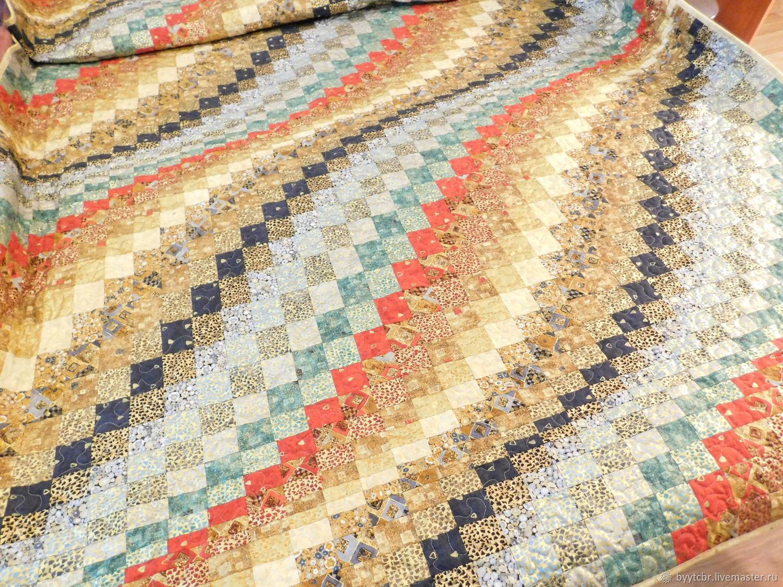 Подарок на 8 марта женщине КЛИМТ лоскутное одеяло барджелло, Пледы, Москва,  Фото №1