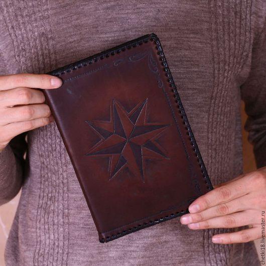 """Подарки для мужчин, ручной работы. Ярмарка Мастеров - ручная работа. Купить Ежедневник """"Роза ветров"""" А5. Handmade. ежедневник мужской"""