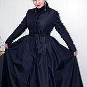 Одежда ручной работы. Ярмарка Мастеров - ручная работа пальто утепленное из ткани на флисе. Handmade.