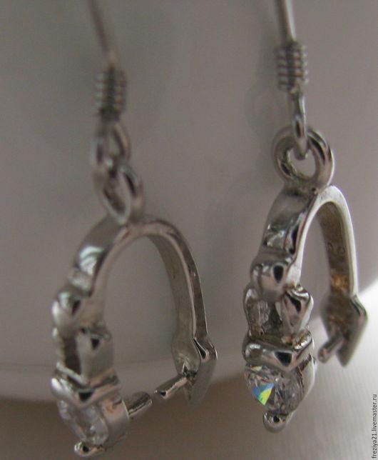Для украшений ручной работы. Ярмарка Мастеров - ручная работа. Купить швензы под кристаллы. Handmade. Серебряный, фурнитура для серег