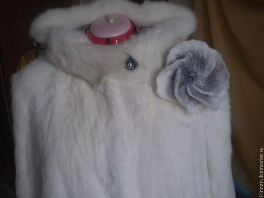 Верхняя одежда ручной работы. Ярмарка Мастеров - ручная работа. Купить Шуба  из кролика. Handmade. Белый, кроличья шубка