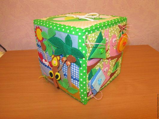 Развивающие игрушки ручной работы. Ярмарка Мастеров - ручная работа. Купить Развивающий кубик. Handmade. Комбинированный, развитие детей