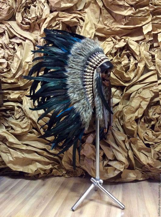 Этническая одежда ручной работы. Ярмарка Мастеров - ручная работа. Купить Индейский головной убор - Стремление Ветра. Handmade. Комбинированный