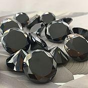Бусины ручной работы. Ярмарка Мастеров - ручная работа Черный бриллиант 10 шт набор. Handmade.