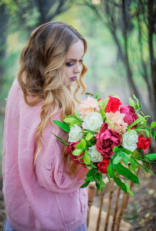 Свадебные цветы ручной работы. Ярмарка Мастеров - ручная работа. Купить Свадебный букет или интерьерная композиция из фоамирана. Handmade.