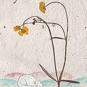Картины и панно ручной работы. Ярмарка Мастеров - ручная работа Истории маленьких цветов. Акварель и сухие травы. Handmade.