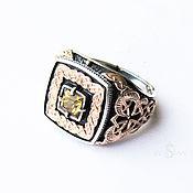 Украшения handmade. Livemaster - original item Ring with citrine and gold patterns. Handmade.