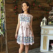 Одежда ручной работы. Ярмарка Мастеров - ручная работа Платье из итальянского шелка. Handmade.