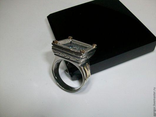 Кольцо ручной работы.  Перстень-Аквариум,серебро,золото Авторская пабота. Ggrigor.Ярмарка Мастеров.